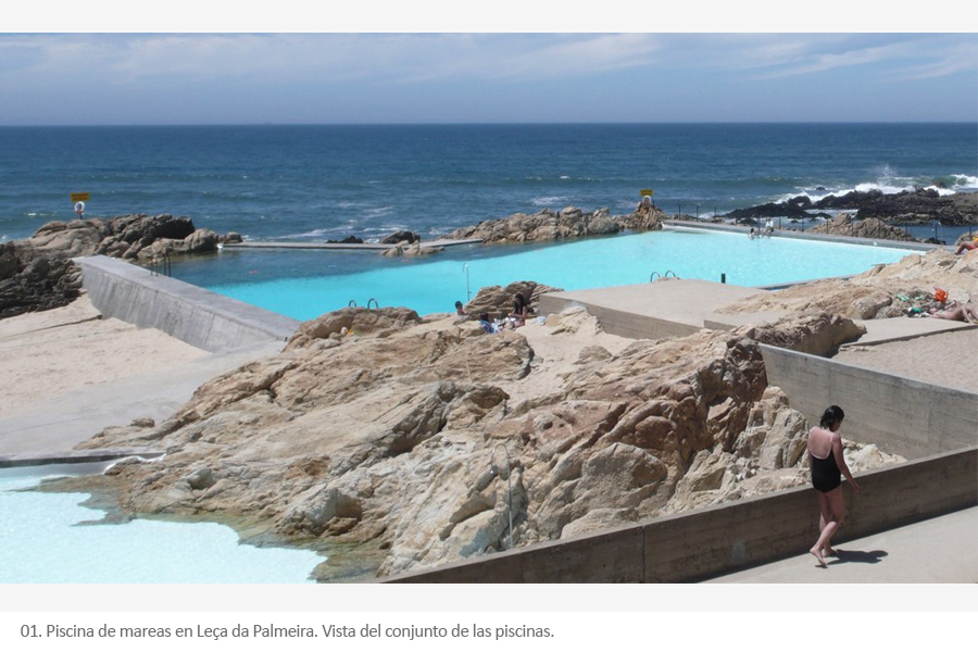 piscina de mareas en le a da palmeira lvaro siza