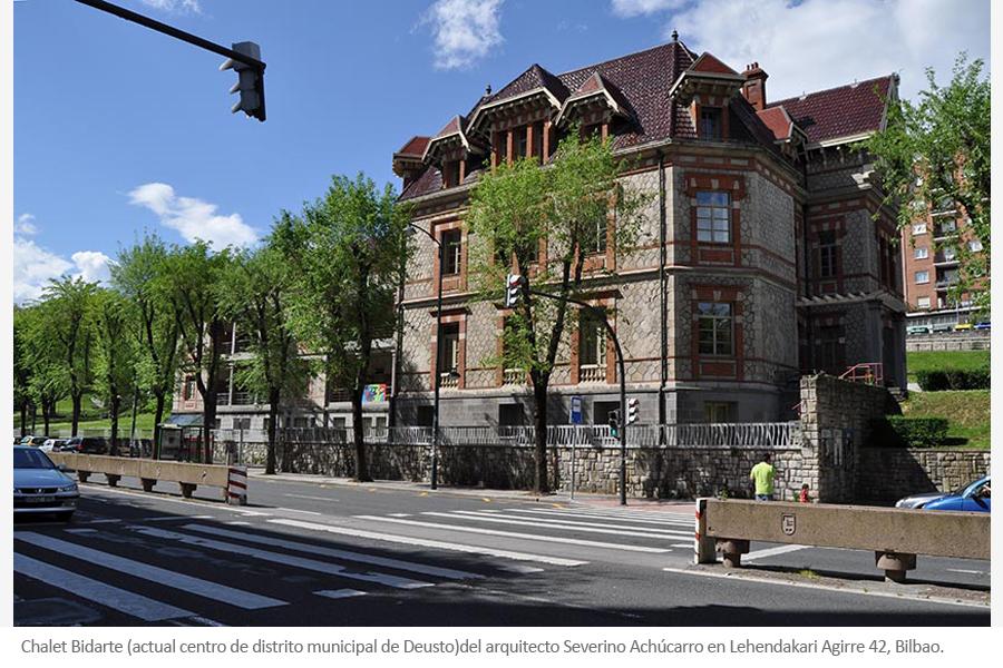 Palacio Bidarte, biblioteca de Deusto de Severino Achucarro Bilbao