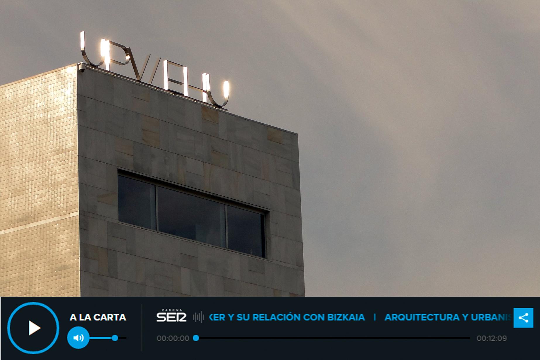 paraninfo UPV-EHU Bizkaia Aretoa de Alvaro Siza en Bilbao