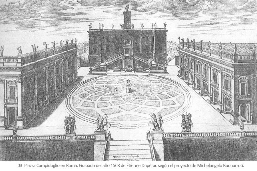 Campidoglio - Michelangelo Buonarroti - Miguel Angel