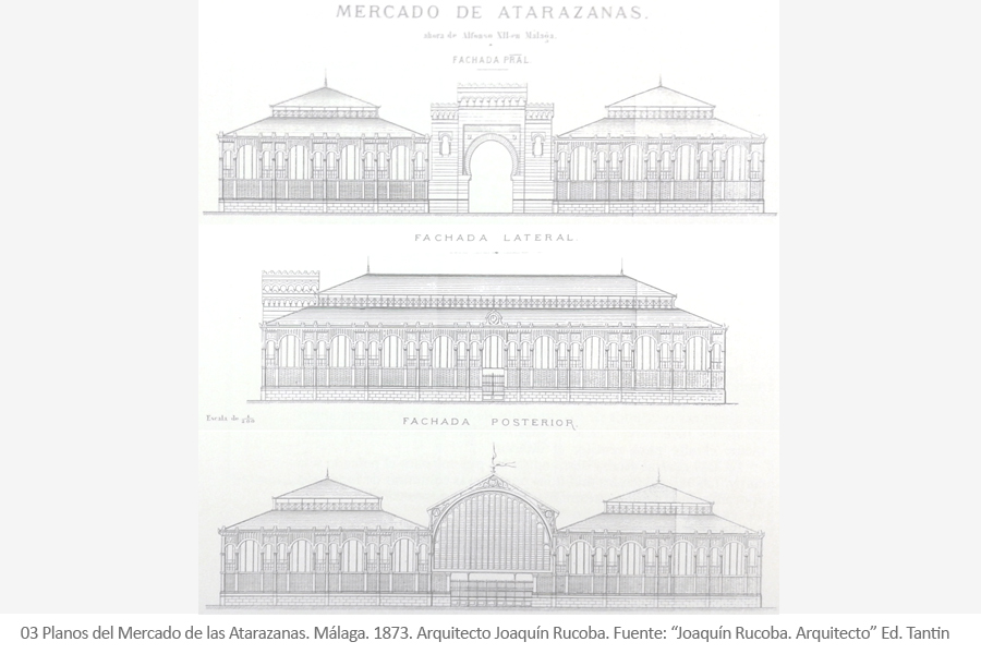 Mercado de las Atarazanas. Málaga. Arquitecto Joaquín Rucoba