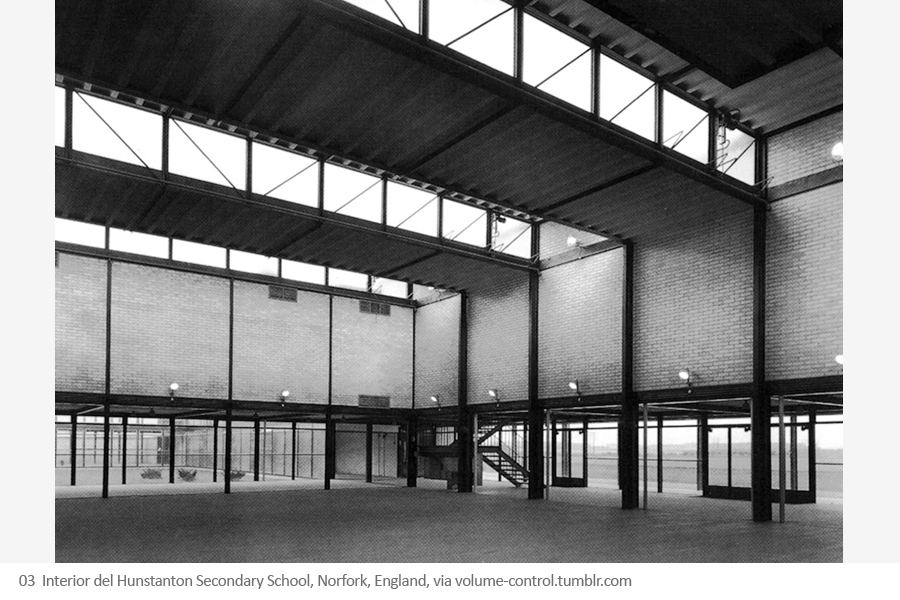 Escuela Secundaria Moderna de Hunstanton, Hunstanton (Reino Unido). Alison y Peter Smithson