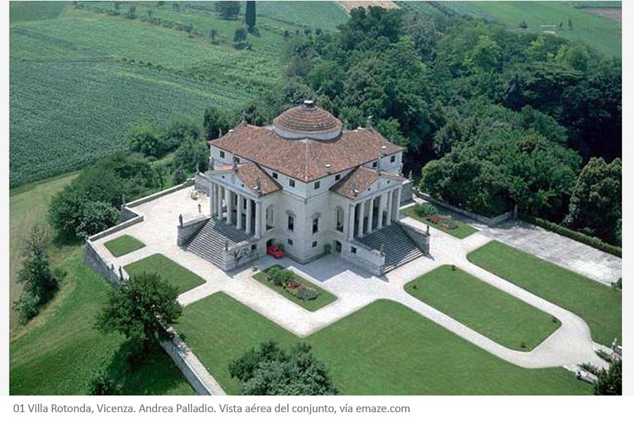 Villa Rotonda de Andrea Palladio en Vicenza