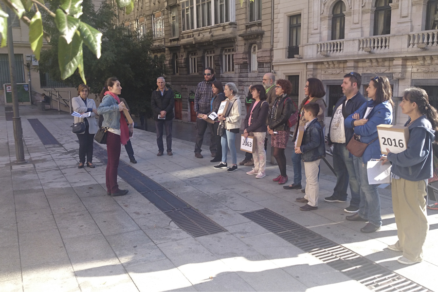 Descubriendo la llegada del ferrocarril Bilbao-Tudela a la anteiglesia de Abando