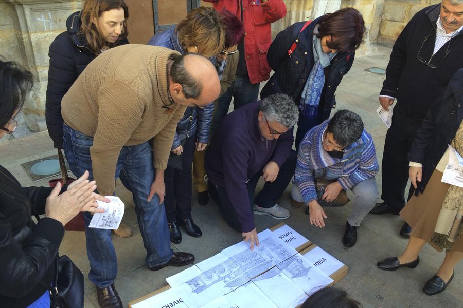 Construyendo juntos el alzado de la estación de Atxuri